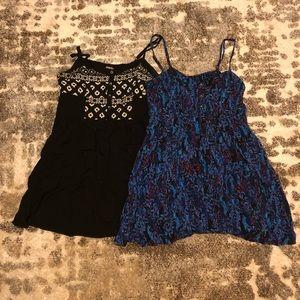 LOT - 2 Express Summer Patterned Dresses Size L